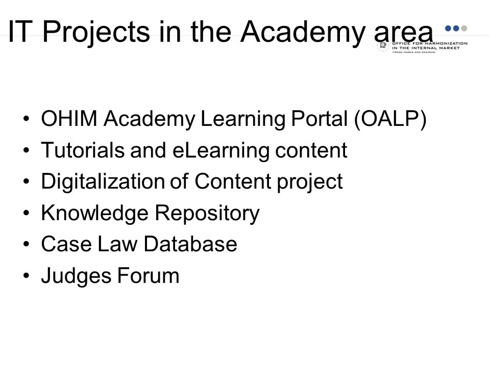 IT Projects in the Academy area
