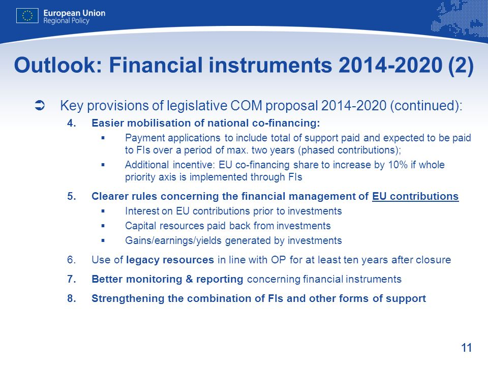 Outlook: Financial instruments (2)