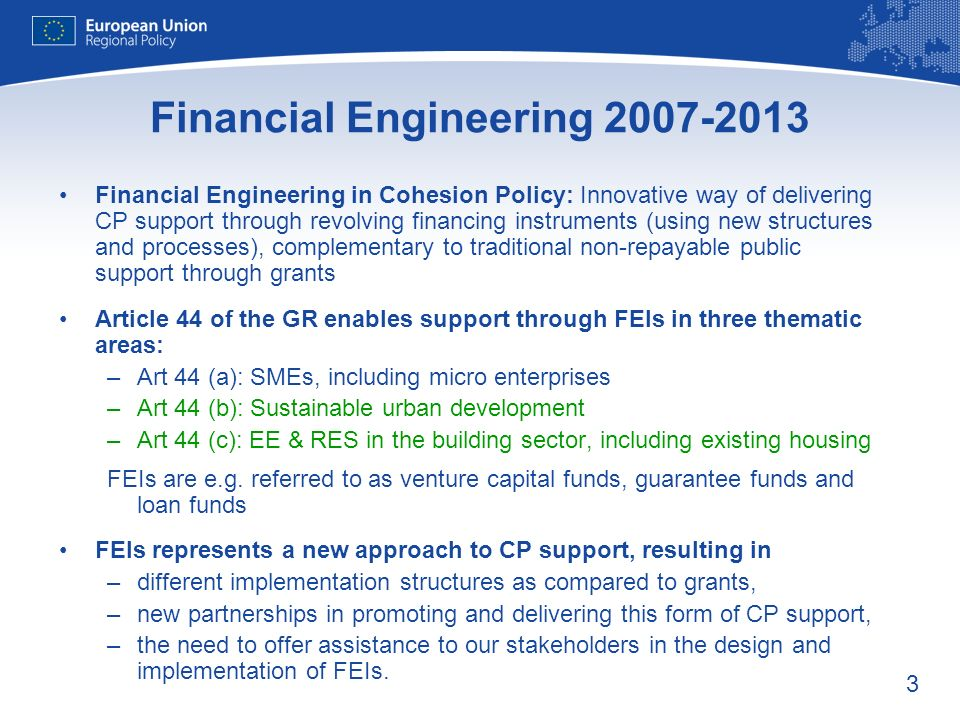 Financial Engineering 2007-2013