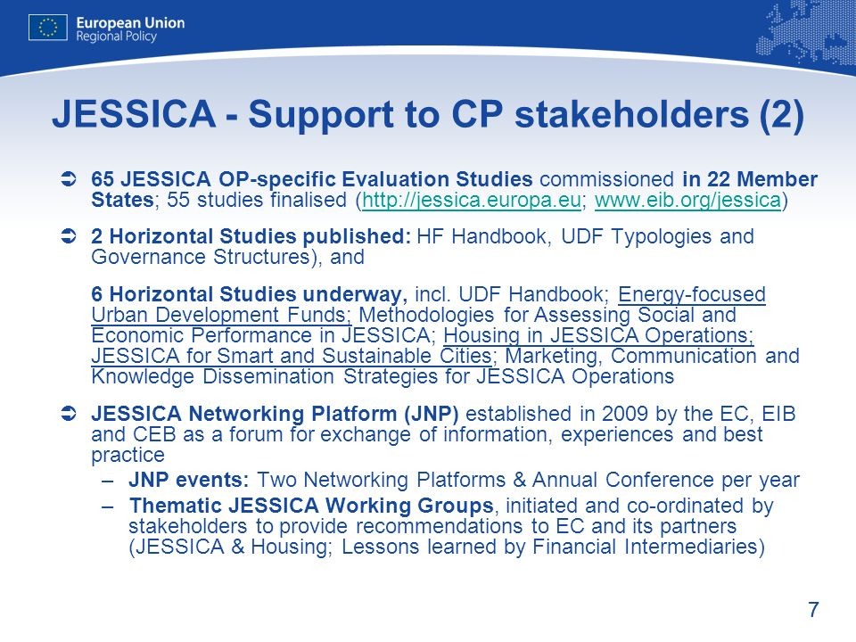 JESSICA - Support to CP stakeholders (2)