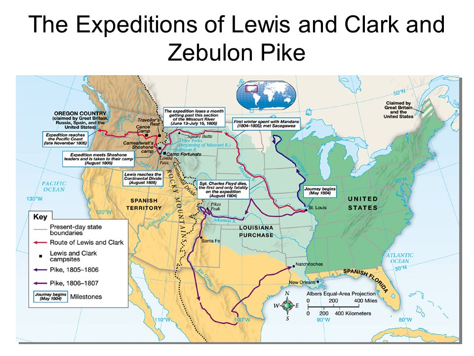 The Expeditions of Lewis and Clark and Zebulon Pike