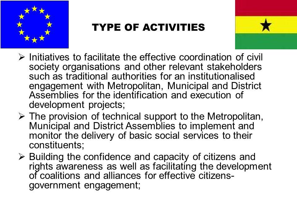 TYPE OF ACTIVITIES