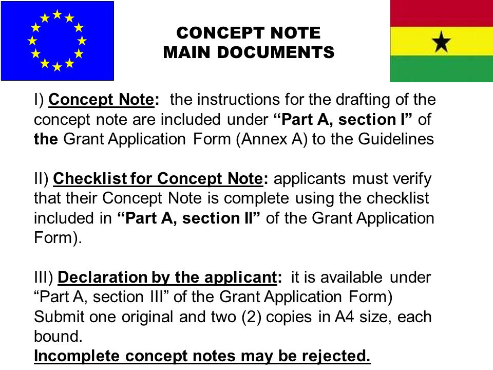 CONCEPT NOTE MAIN DOCUMENTS