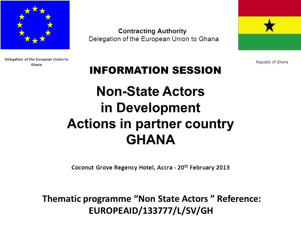 Non-State Actors in Development Actions in partner country GHANA