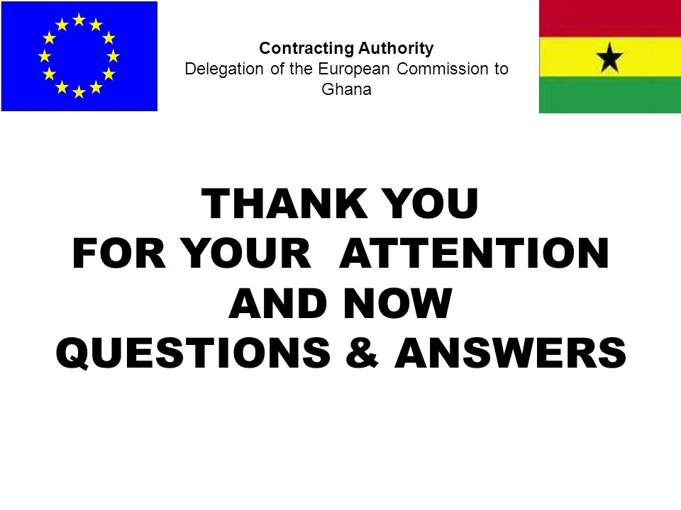THANK YOU FOR YOUR ATTENTION AND NOW QUESTIONS & ANSWERS