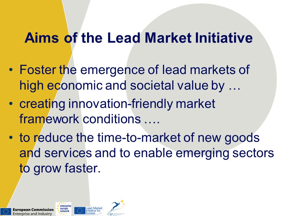 Aims of the Lead Market Initiative