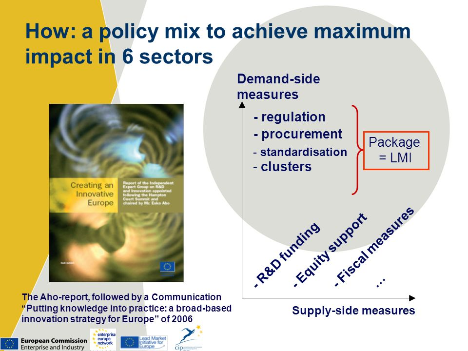 How: a policy mix to achieve maximum impact in 6 sectors