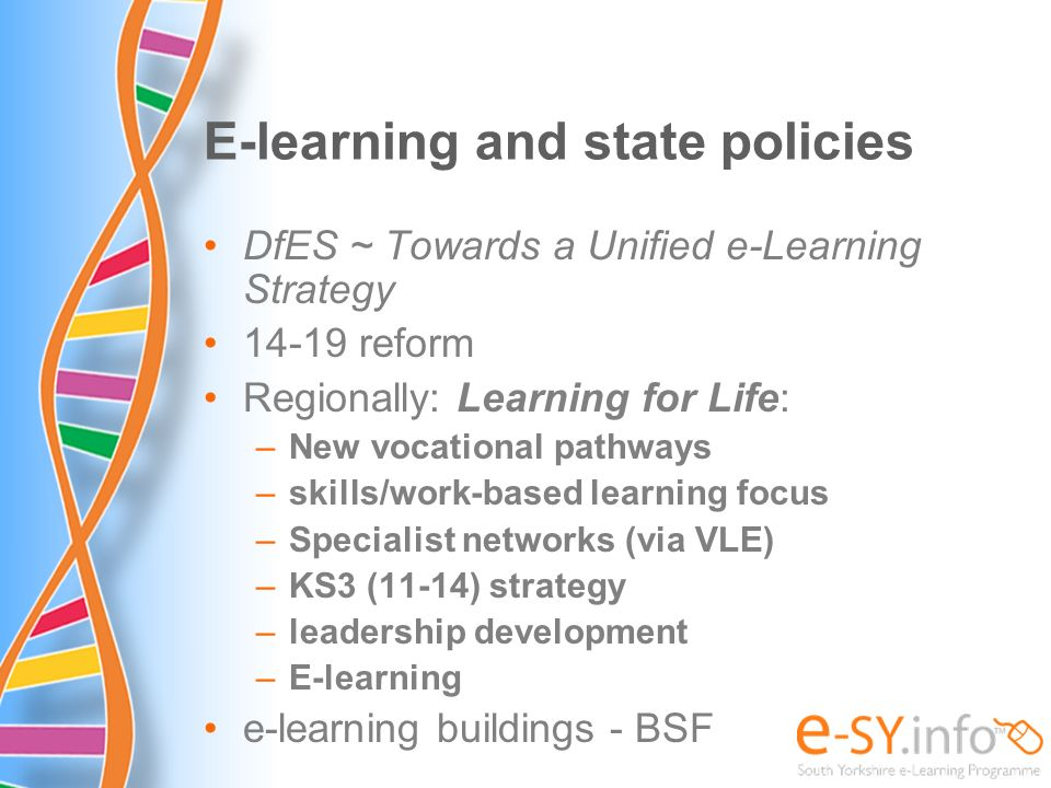 E-learning and state policies