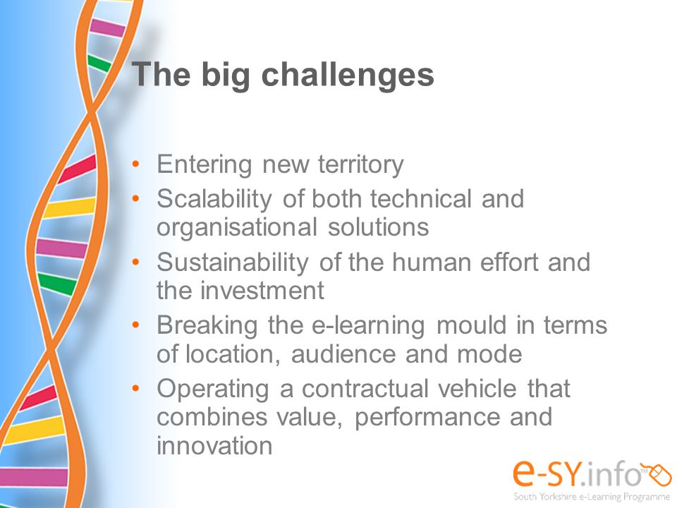 The big challenges Entering new territory