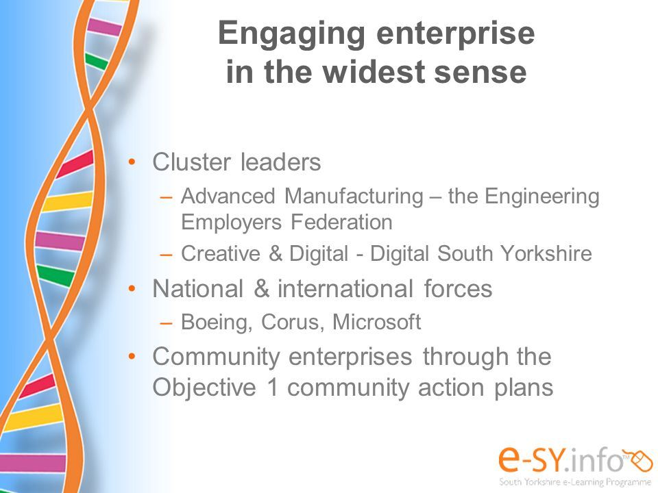 Engaging enterprise in the widest sense
