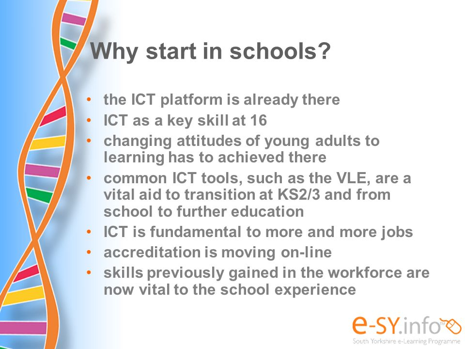Why start in schools the ICT platform is already there