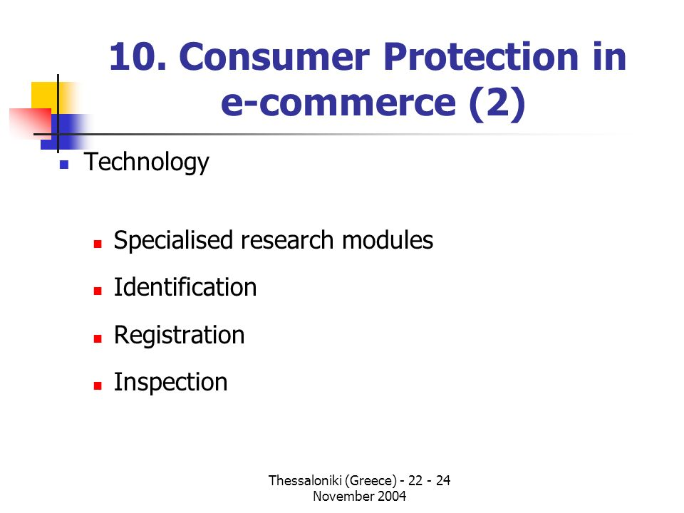 10. Consumer Protection in e-commerce (2)
