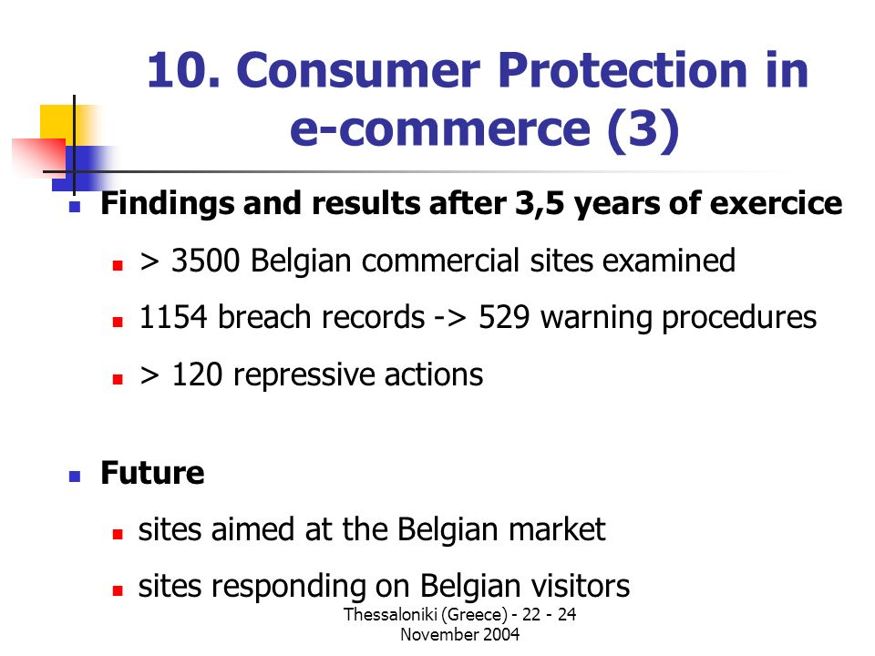 10. Consumer Protection in e-commerce (3)