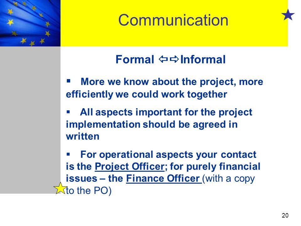 Communication Formal Informal