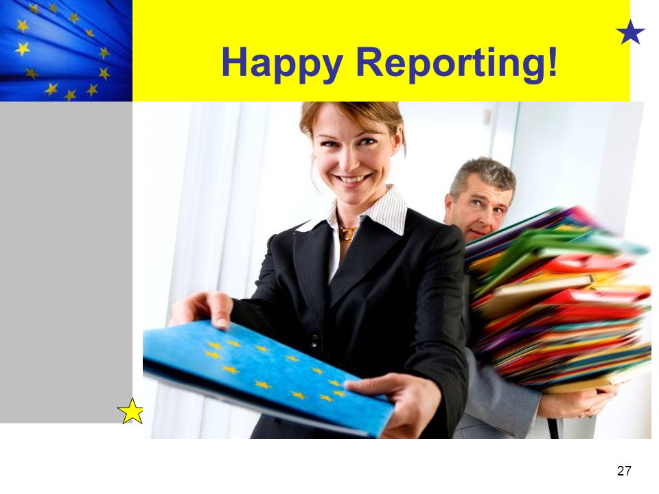 Happy Reporting!