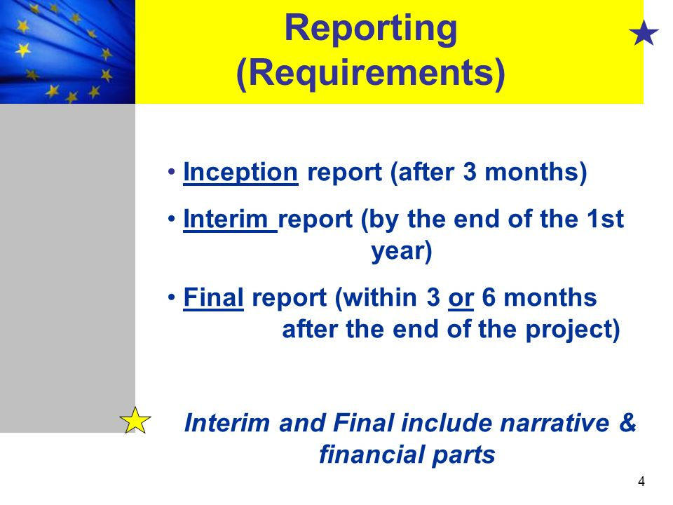 Reporting (Requirements)