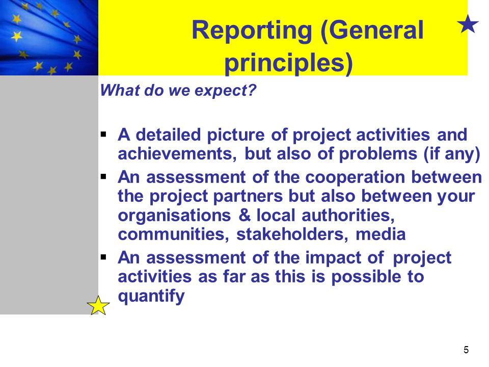 Reporting (General principles)