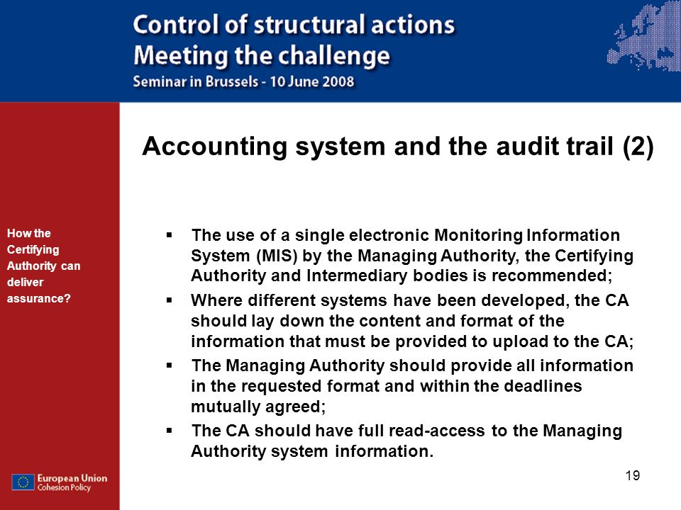 Accounting system and the audit trail (2)