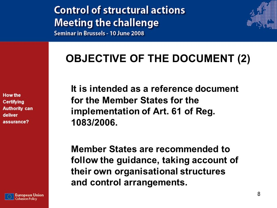 OBJECTIVE OF THE DOCUMENT (2)