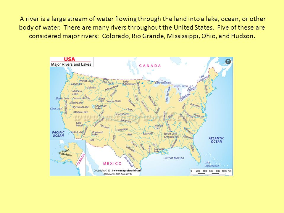 Exploring US Rivers And Mountain Ranges Ppt Video Online Download - Bodies of water map us