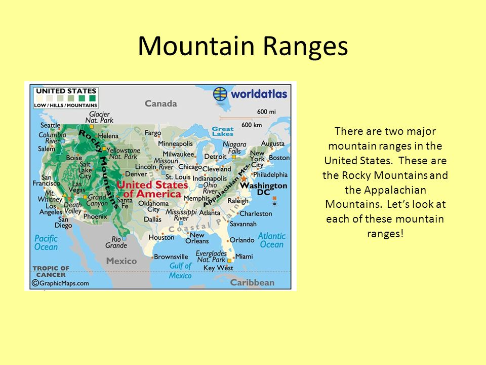 Exploring US Rivers And Mountain Ranges Ppt Video Online Download - Mountain ranges of united states