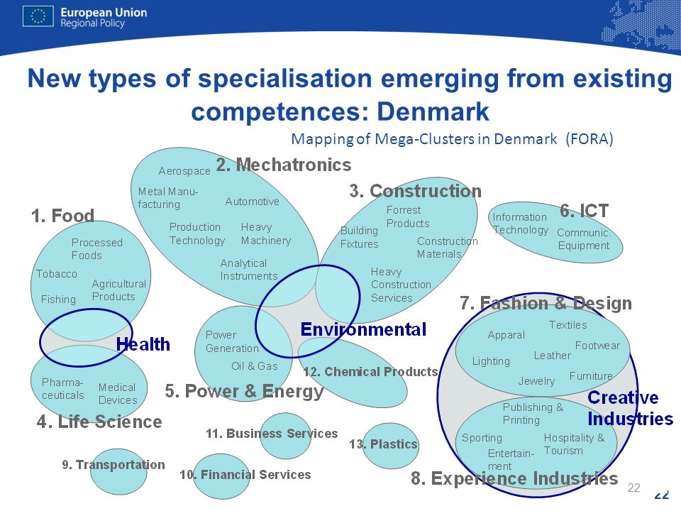 New types of specialisation emerging from existing competences: Denmark