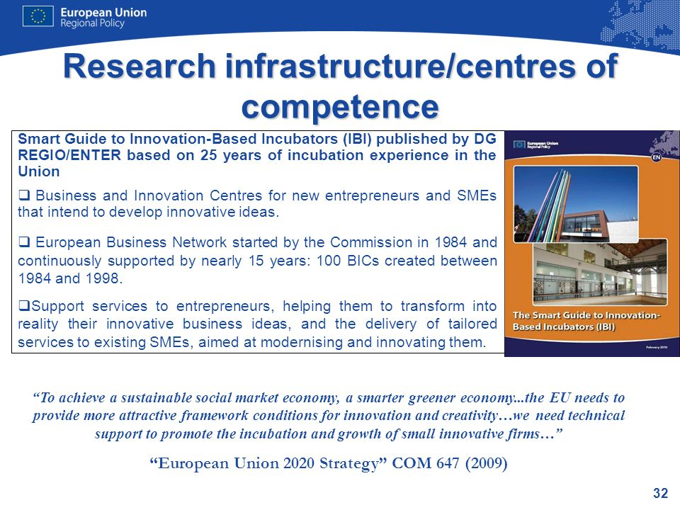 Research infrastructure/centres of competence