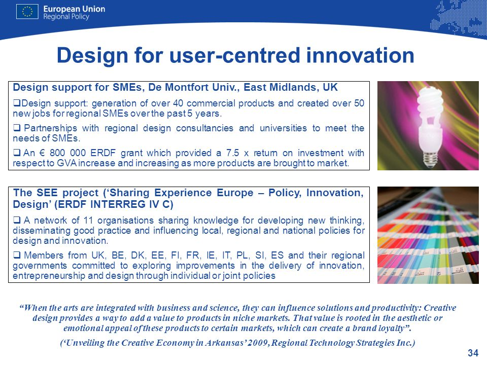 Design for user-centred innovation