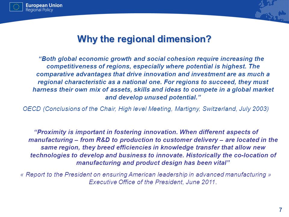 Why the regional dimension