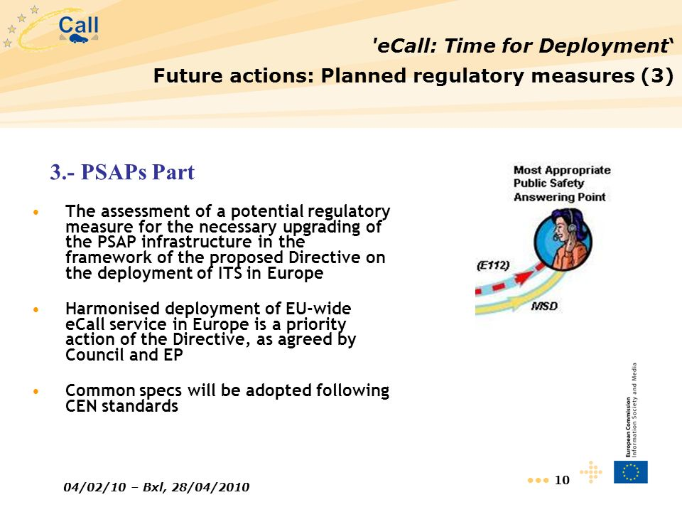 3.- PSAPs Part eCall: Time for Deployment'
