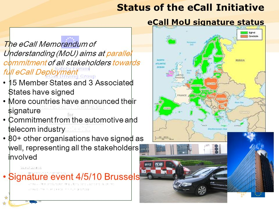 Status of the eCall Initiative