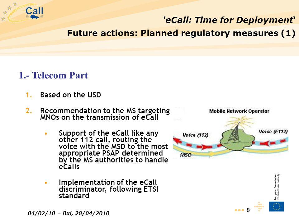 1.- Telecom Part eCall: Time for Deployment'