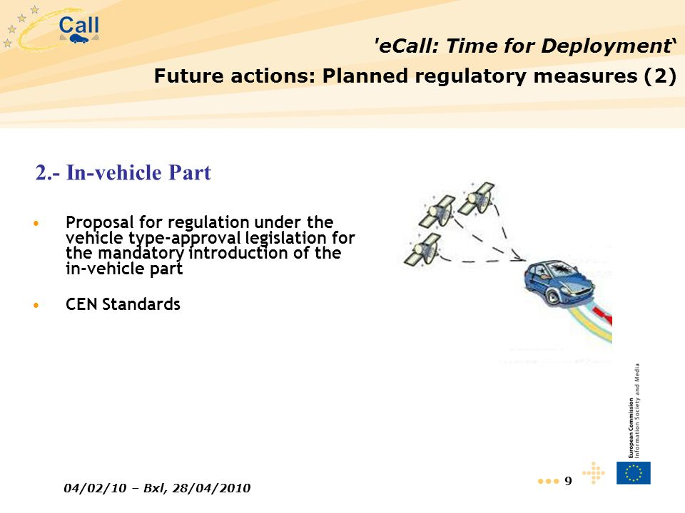 2.- In-vehicle Part eCall: Time for Deployment'