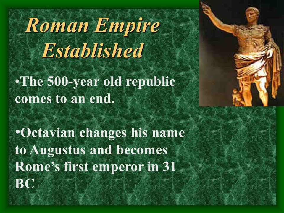 Roman Empire Established