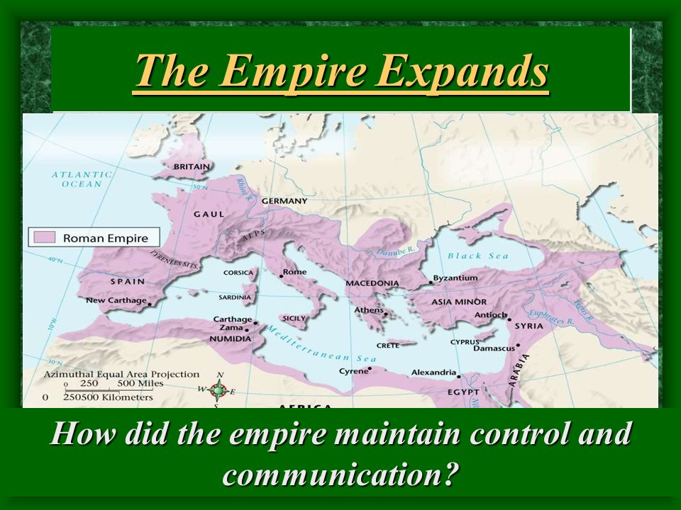 How did the empire maintain control and communication