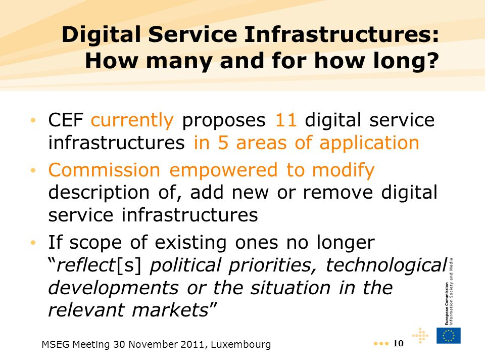 Digital Service Infrastructures: How many and for how long