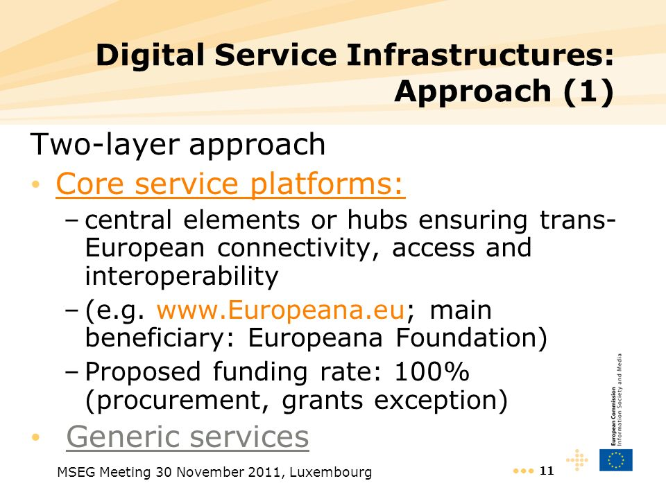 Digital Service Infrastructures: Approach (1)