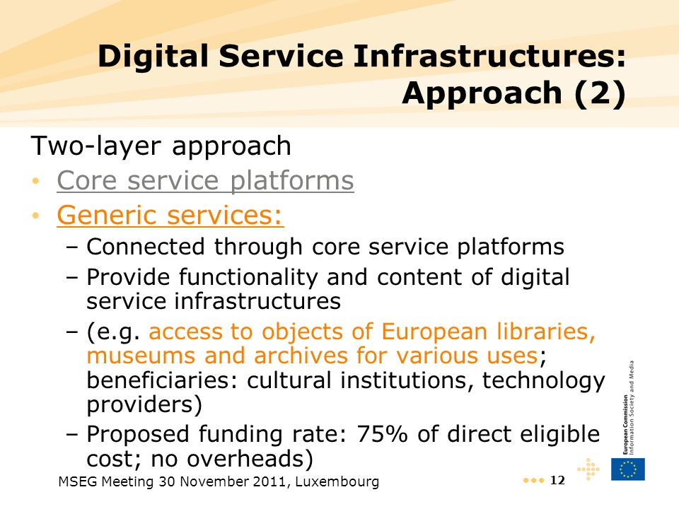 Digital Service Infrastructures: Approach (2)