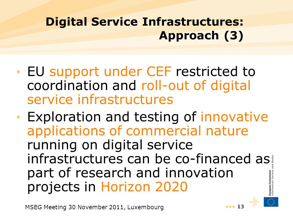 Digital Service Infrastructures: Approach (3)