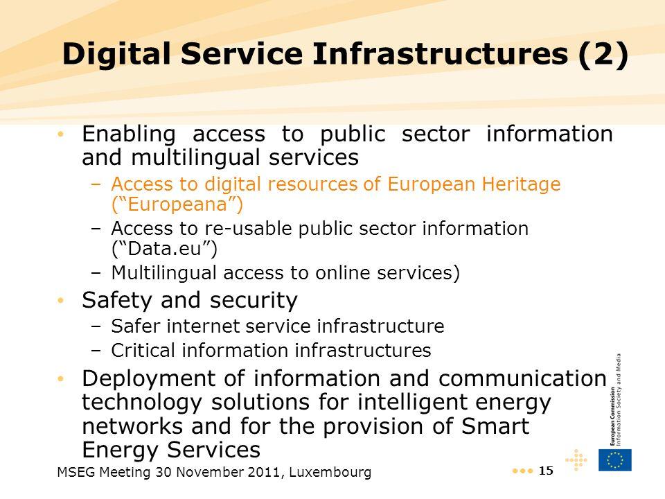 Digital Service Infrastructures (2)