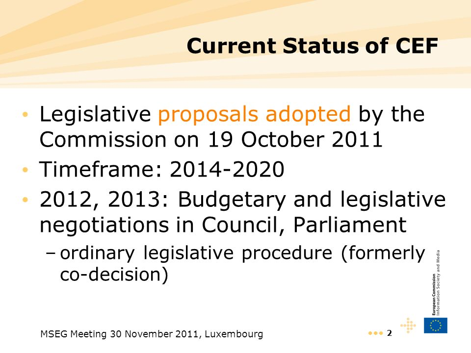 Legislative proposals adopted by the Commission on 19 October 2011