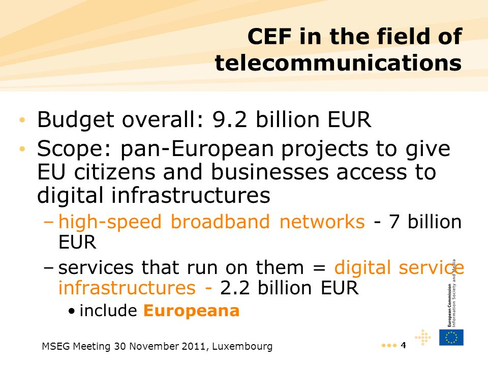 CEF in the field of telecommunications