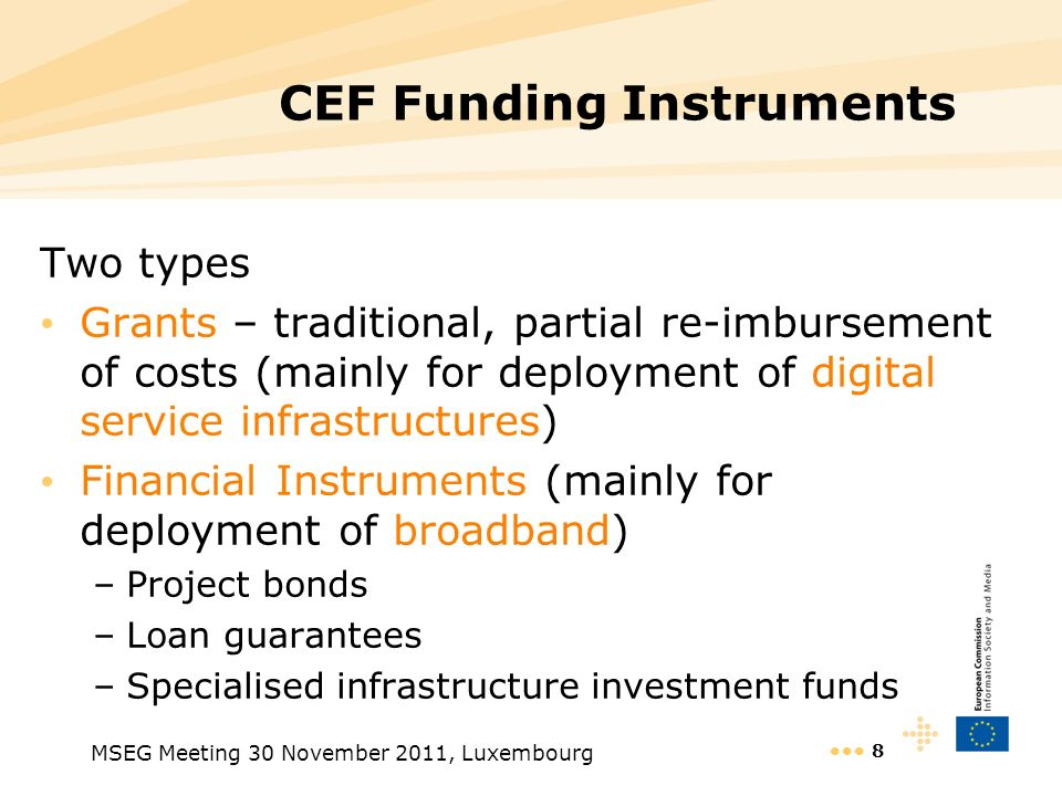 CEF Funding Instruments