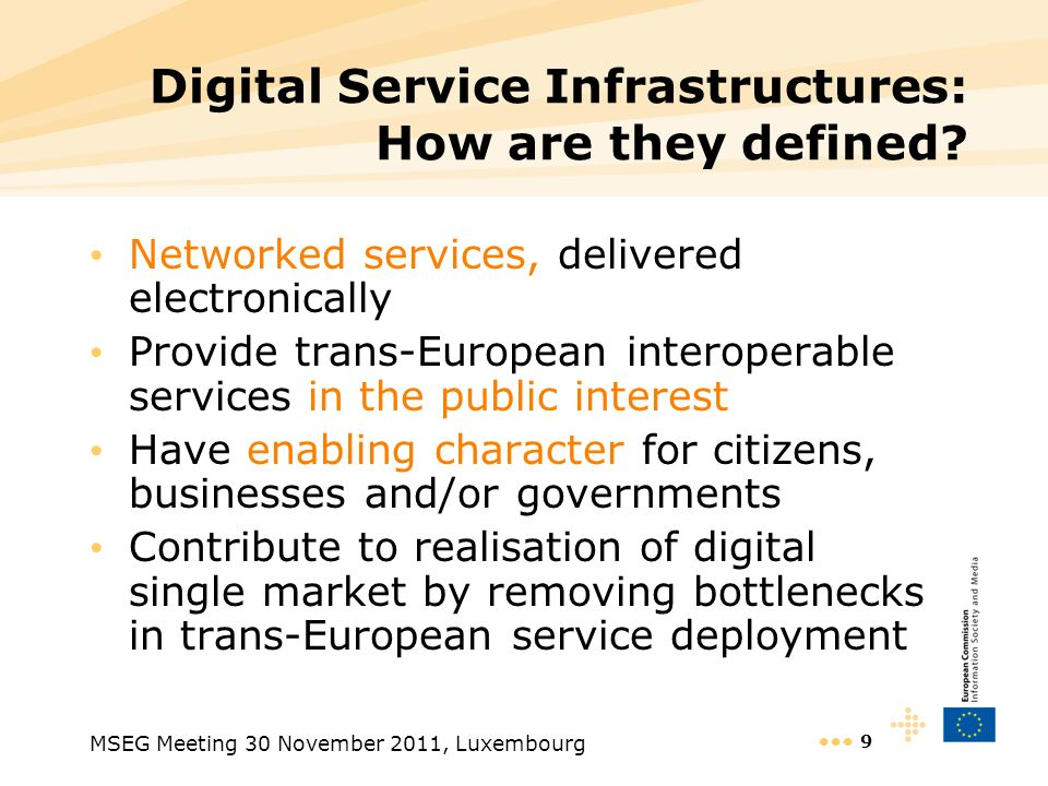 Digital Service Infrastructures: How are they defined