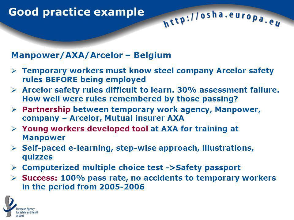 Manpower/AXA/Arcelor – Belgium