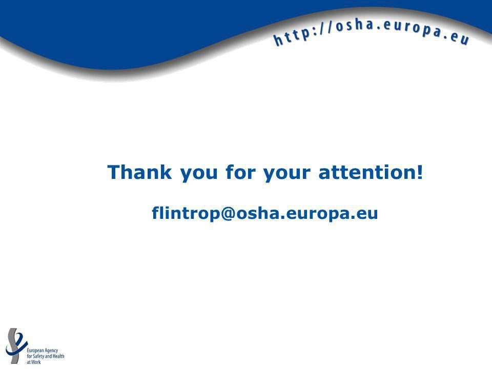 Thank you for your attention! flintrop@osha.europa.eu