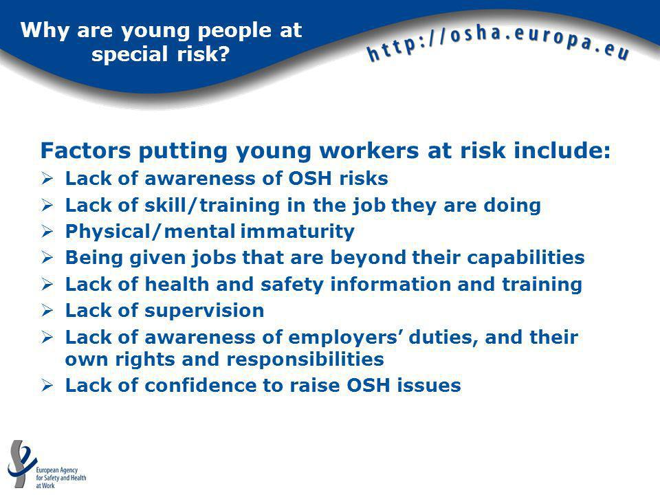 Why are young people at special risk