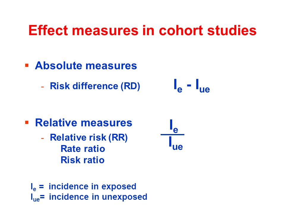 Effect measures in cohort studies