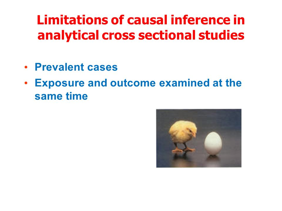 Limitations of causal inference in analytical cross sectional studies