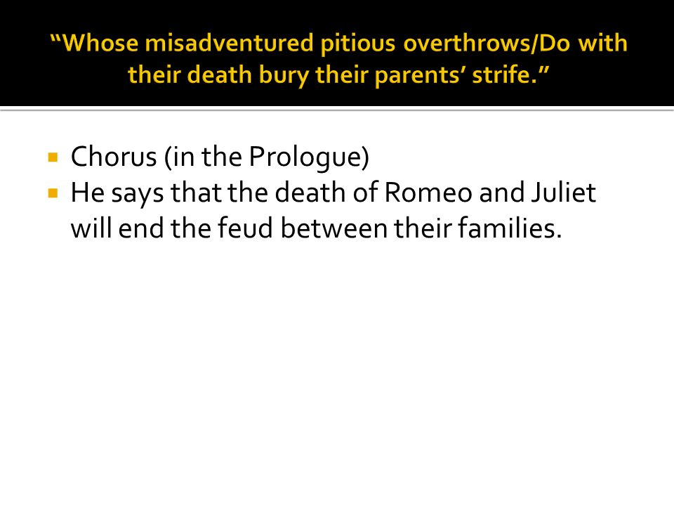an analysis of the prologue to romeo and juliet Plot summary and analysis of act i, prologue of william shakespeare's romeo and juliet.